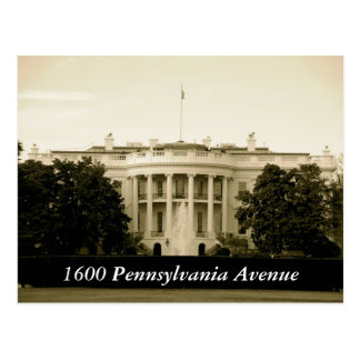 1600 Pennsylvania Avenue Postcard