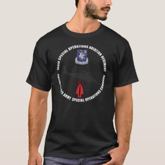 160th SOAR Blackhawk Black T-Shirt