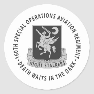 160th SOAR - Subdued Round Stickers