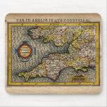 1610 Map of Cornwall, Devon, Somerset, etc... Mouse Mat