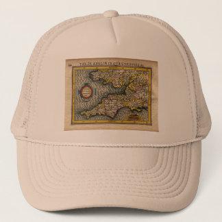 1610 Map of Cornwall, Devon, Somerset, etc... Trucker Hat