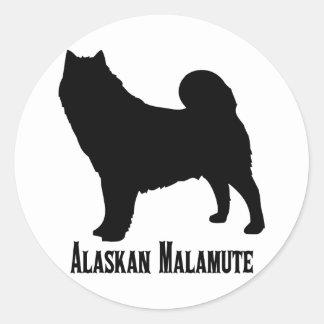 1615112006 Alaskan Malamute (Animales) Round Sticker