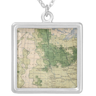 161 Barley/sq mile Silver Plated Necklace