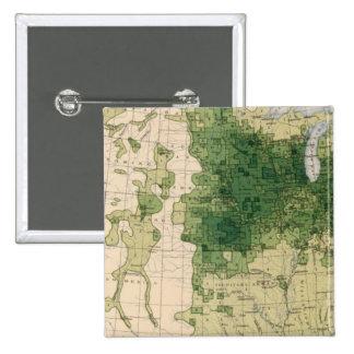 162 Hay, forage/sq mile 15 Cm Square Badge