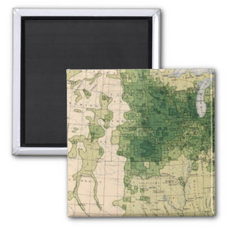 162 Hay, forage/sq mile Square Magnet