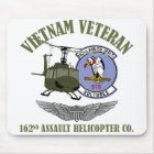 162nd AHC w/ Wings and UH-1 Helicopter Mouse Mat