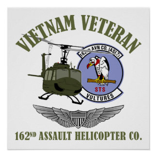 162nd AHC w/ Wings and UH-1 Helicopter Poster