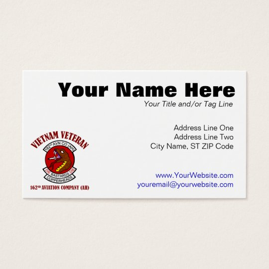 162nd Avn Co (AH) Vietnam Business Card