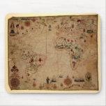 1633 Atantic Ocean Portolan Chart - Pascoal Roiz