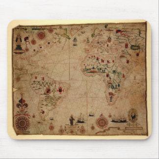 1633 Atantic Ocean Portolan Chart - Pascoal Roiz Mouse Mat