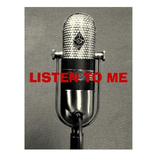 163581257_o, LISTEN TO ME Postcard