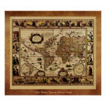 1635 Old World Map Poster