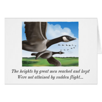 1648704, The heights by great men reached and k... Greeting Card