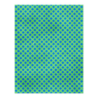 1649 BRIGHT ROYAL OCEAN BLUE GREEN POLKA DOT POLKA 21.5 CM X 28 CM FLYER
