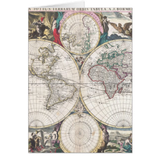 1685 Bormeester Map of the World Card