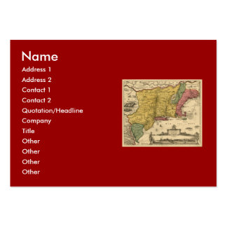1685 Map - New Belgium, The New World, New England Pack Of Chubby Business Cards