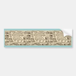 1688 Greece / Greek Peloponnesian Map Bumper Sticker