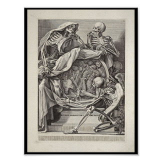 1691 Artistic Anatomy Skeletons Art Print