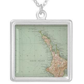 169 New Zealand, Hawaii, Tasmania Silver Plated Necklace