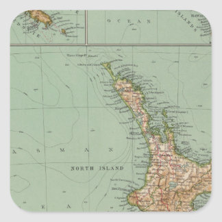 169 New Zealand, Hawaii, Tasmania Square Sticker