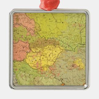 16 a European ethnographic Silver-Colored Square Decoration