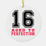 16 Aged to Perfection Round Ceramic Decoration