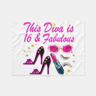 16 AND FABULOUS DIVA FLEECE BLANKET