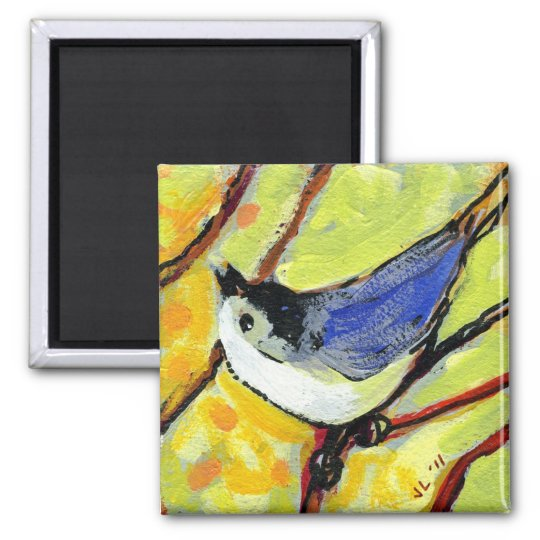 16 Birds, No 6 - Square Magnet