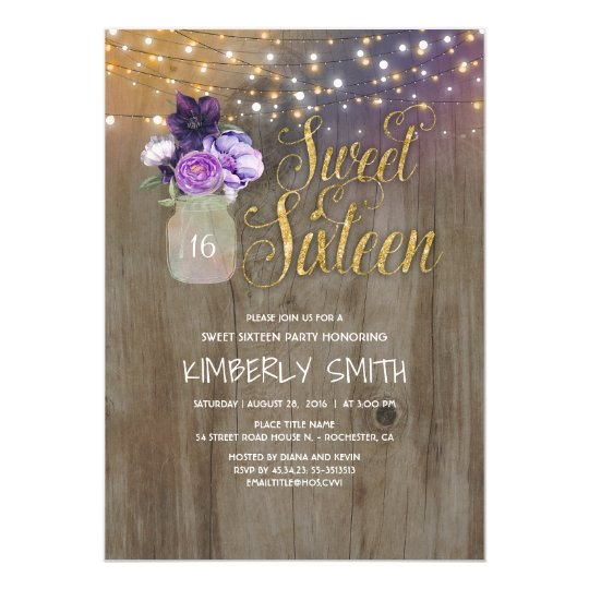 Sweet 16 Invitations & Announcements