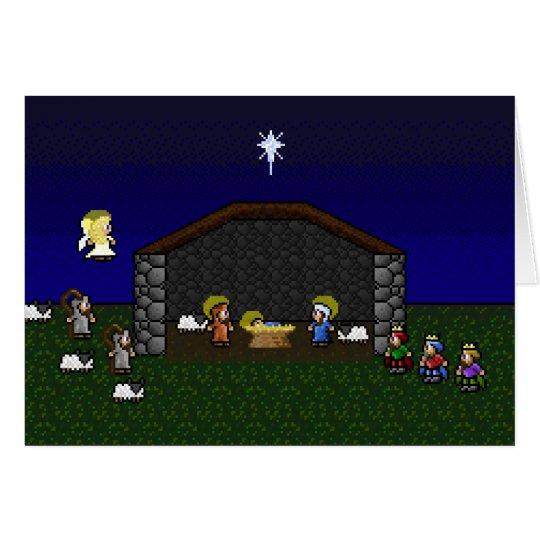 16-Bit RPG Nativity Scene Card