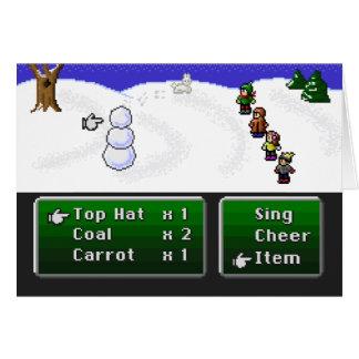 16-Bit RPG Snowman Greeting Card