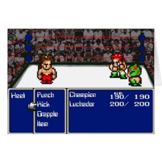 16 bit RPG Wrestling Greeting Card