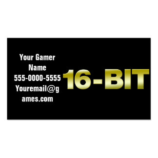 16-Bit Video Game Business Cards