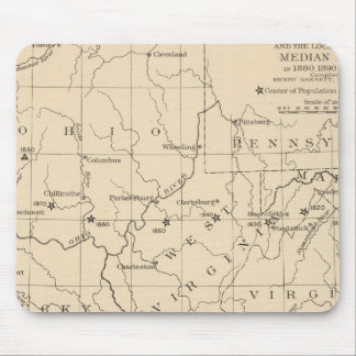 16 Center of population 17901900 Mouse Mat