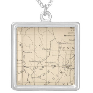 16 Center of population 17901900 Silver Plated Necklace