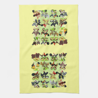 16 Chicken Families Tea Towel