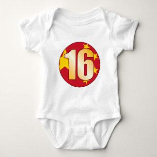 16 CHINA Gold Baby Bodysuit