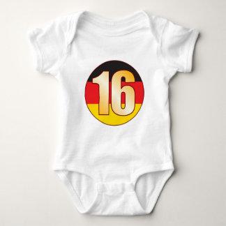 16 GERMANY Gold Baby Bodysuit