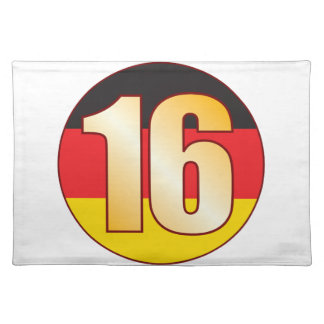16 GERMANY Gold Placemat