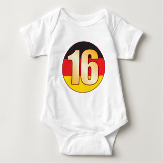 16 GERMANY Gold T Shirts