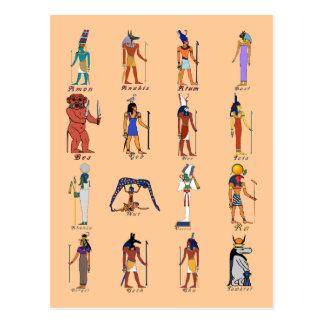 16 Gods Postcard