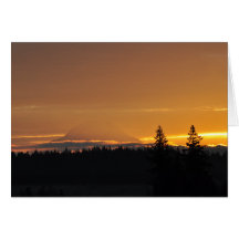 #16 Mount Rainier and its Shadow Greeting Cards