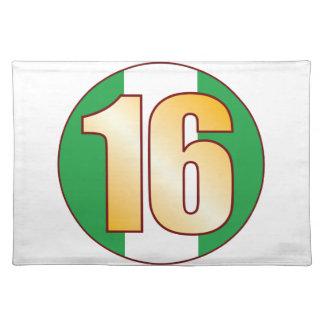16 NIGERIA Gold Placemat