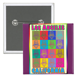 16 Surfers Los Angeles Button 2 Inch Square Button