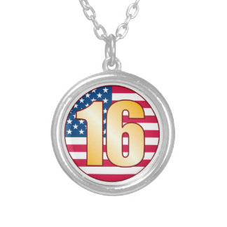 16 USA Gold Silver Plated Necklace