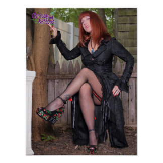 """16"""" x 12"""" Chrissy Kittens Witchy Thighs Poster"""