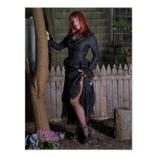 """16"""" x 12"""" Chrissy Kittens Witchy Tree Poster"""