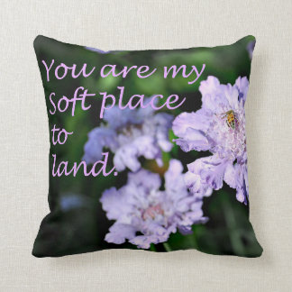 16 x 16 Cotton Throw Pillow with Lavender Flowers