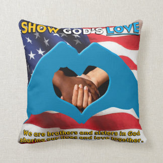 "16"" x 16"" SHOW GOD'S LOVE Throw Pillow"