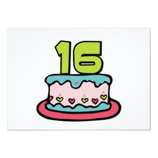 16 Year Old Birthday Cake Announcements